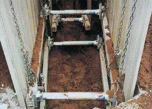 土留材 水圧サポート 腹起し アルミ矢板